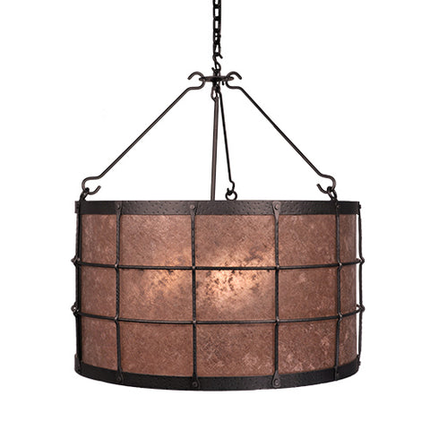 Modern Lodge Lighting - Steel Partners Lighting 2039 - Rustic Farmhouse Chandelier - Ferron Forge