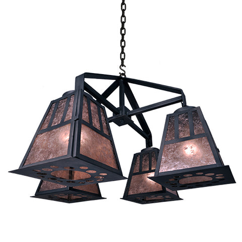 Rustic Country Lighting - Steel Partners Lighting 2046 - Rustic Chandelier - Monterey