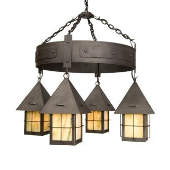 Rustic Lodge Lighting - Steel Partners Lighting 2048 - Rustic Chandelier - Lapaz - Round