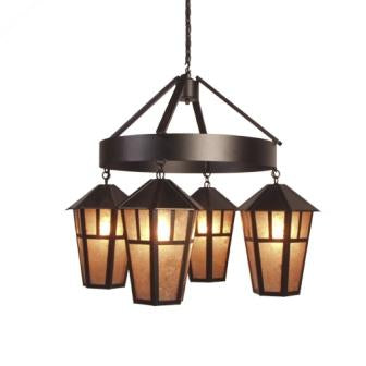 Modern Log Cabin Lighting - Steel Partners Lighting 2058 - Rustic Chandelier - Oakland