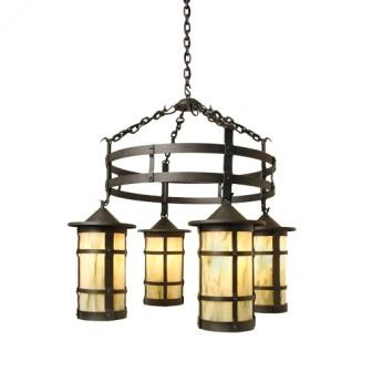 Rustic Farmhouse Style Lighting - Steel Partners Lighting 2061-71 - Rustic Chandelier - Pasadena San Carlos
