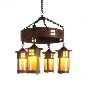 Modern Country Style Lighting - Steel Partners Lighting 2061 - Rustic Chandelier - Pasadena