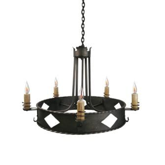 Rustic Lodge Style Lighting - Steel Partners Lighting 2062 - Rustic Chandelier - Old Adobe