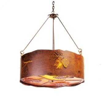 Rustic Cabin Style Lighting - Steel Partners Lighting 2063 - Rustic Chandelier - Pinecone