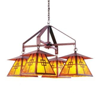 Rustic Log Cabin Style Lighting - Steel Partners Lighting 2064 - Rustic Chandelier - Prairie