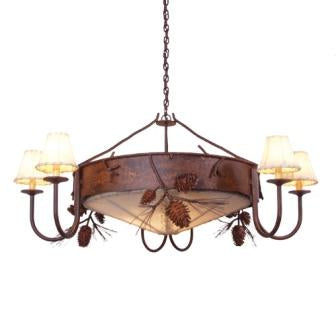Modern Log Cabin Style Lighting - Steel Partners Lighting 2065 - Lodge Chandelier - Ponderosa Pine