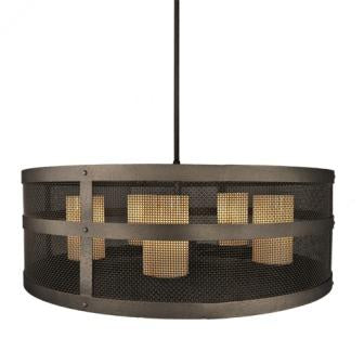 Farmhouse Style Lighting Fixtures - Steel Partners Lighting 2070-Open-5 - Rustic Chandelier - Open Portland - XL (5 Light)