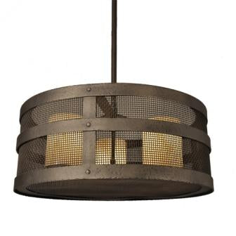 Country Style Lighting Fixtures - Steel Partners Lighting 2070-Open - Rustic Chandelier - Open Portland - Mesh