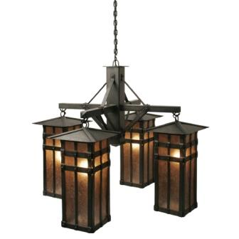 Rustic Style Lighting Fixtures - Steel Partners Lighting 2071 - Rustic Chandelier - San Carlos