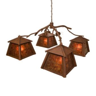 Country Lighting Fixtures - Steel Partners Lighting 2073 - Rustic Chandelier - Saranac