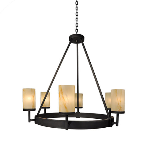 Lodge Lighting Fixtures - Steel Partners Lighting 2074 - Rustic Chandelier - Tahoe