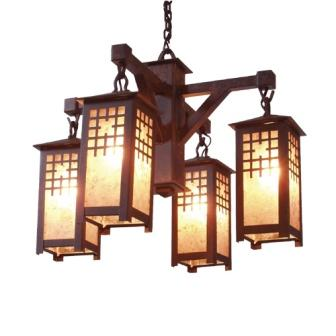 Log Cabin Lighting Fixtures - Steel Partners Lighting 2076-Sm - Rustic Chandelier - San Marcos (Sm)