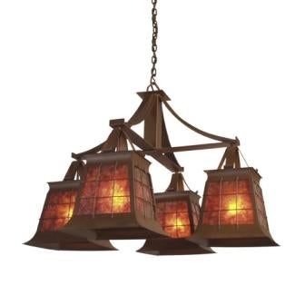Cabin Style Lighting Fixtures - Steel Partners Lighting 2081 - Rustic Chandelier - Topridge