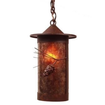 Modern Farmhouse Light Fixture - Steel Partners Lighting 2161-65-Wet - Indoor / Outdoor Sconce - Pasadena - Ponderosa Pine - Wet Location
