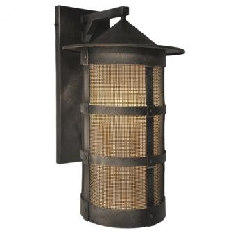 Rustic Country Light Fixture - Steel Partners Lighting 2161-71-Wet-XL-M - Indoor / Outdoor Sconce - Pasadena - San Carlos - XL w/Mesh