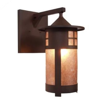 Rustic Log Cabin Style Lighting Fixture - Steel Partners Lighting 2161-Wet - Indoor / Outdoor Sconce - Pasadena - Wet Location