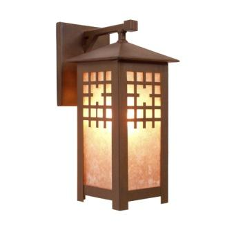 Log Cabin Style Light Fixtures - Steel Partners Lighting 2176-Wet - Indoor / Outdoor Sconce - San Marcos - Wet Location