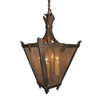 Modern Cabin Style Light Fixtures - Steel Partners Lighting 2179-P-M - Pendant - Tuscany - Mesh