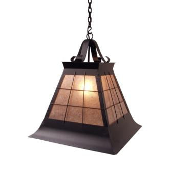 Rustic Country Style Light Fixtures - Steel Partners Lighting 2181-P-Lg - Pendant - Topridge - Large