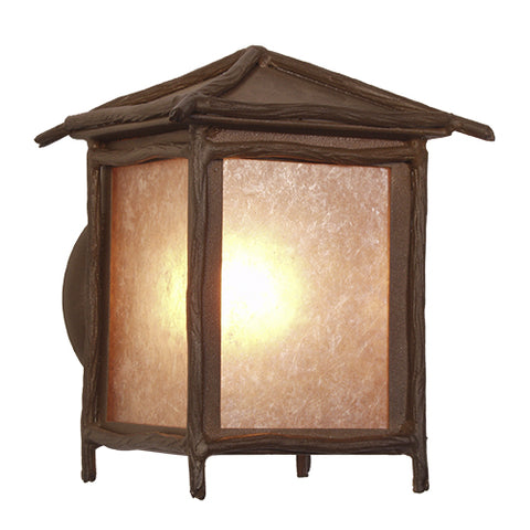 Rustic Cabin Style Light Fixtures - Steel Partners Lighting 2182-17-W-LG - Peaked Wall Sconce - Sticks - Large - Wet Location