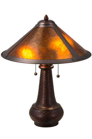 "Rustic Lodge Style Table Lamps Meyda 22210 - 21""H Van Erp Table Lamp"