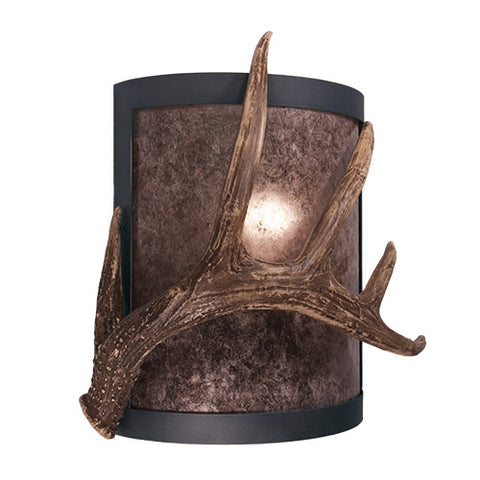 Modern Lodge Style Lighting - Steel Partners Lighting 2378-91 - Timber Ridge Lodge Sconce - Antler