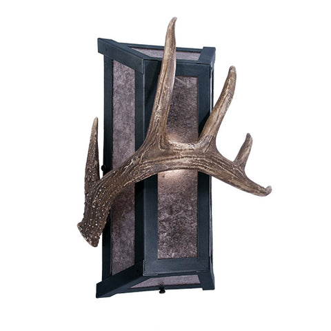 Modern Rustic Cabin Style Lighting - Steel Partners Lighting 2380-91 - Cabin Lighting Sconce - Lone Antler