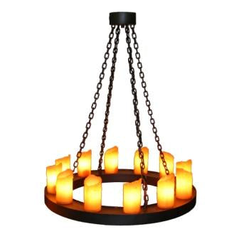 Modern Rustic Farmhouse Lighting - Steel Partners Lighting 2401 - Candle Chandelier - One Tier