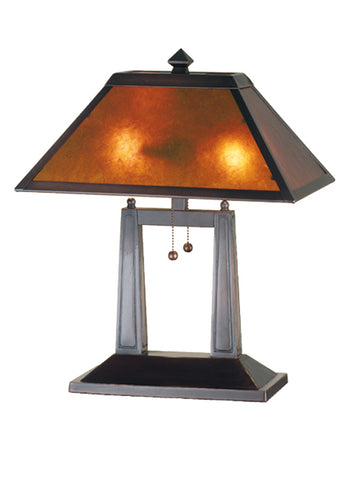 "Modern Cabin Style Table Lamps Meyda 24216 - 20""H Van Erp Oblong Table Lamp"