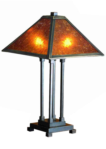 "Rustic Farmhouse Style Table Lamps Meyda 24217 - 24""H Van Erp Table Lamp"