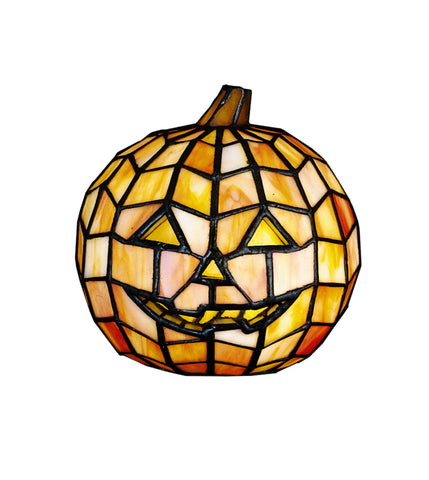 "Rustic Lodge Style Novelty Lamps And Accessories Meyda 24733 - 7""H Jack O'Lantern Accent Lamp"