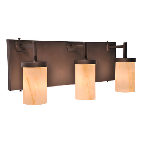 Hunting Lodge Style Lighting Fixtures - Steel Partners Lighting 2618-3 - Rustic Vanity Lights - Corona