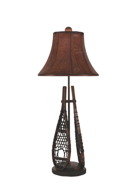 Rustic Cabin Table Lamps - Aspen Snow Shoe Buffet Lamp