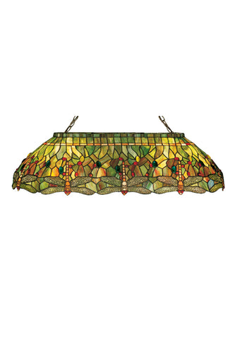 "Country Ceiling Lights Meyda 26544 - 40""L Tiffany Hanginghead Dragonfly Oblong Pendant Light"