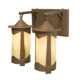 Rustic Cabin Style Lighting Fixtures - Steel Partners Lighting 2661-98-2 - Rustic Vanity Lights - Pasadena - Vallejo - Double