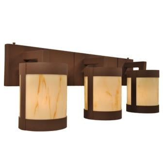 Rustic Farmhouse Style Lighting Fixtures - Steel Partners Lighting 2668-3 - Rustic Vanity Lights - Seattle - 3 Light