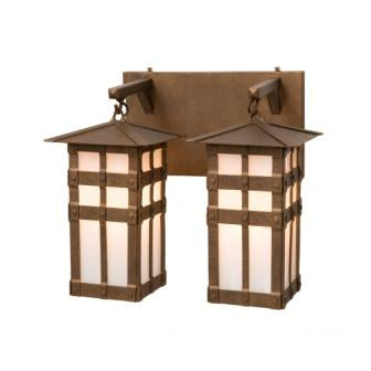 Rustic Lodge Style Lighting Fixtures - Steel Partners Lighting 2671-2 - Rustic Vanity Lights - San Carlos - Double