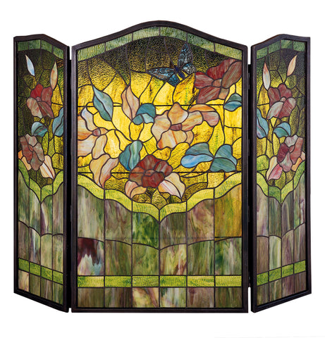 "Rustic Country Style Fireplace Screens Meyda 27237 - 40""W X 34""H Butterfly Fireplace Screen"