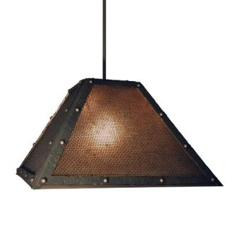 Farmhouse Style Lights - Steel Partners Lighting 2774-M-2 - Farmhouse Lighting - Swag - Rogue River - Mesh w/ Lens