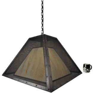 Rustic Style Lights - Steel Partners Lighting 2774-M-XXL - Farmhouse Lighting - Swag - Rogue River - Mesh - XXL
