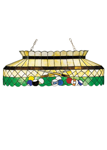 "Modern Country Style Ceiling Lights Meyda 28499 - 40""L Green Billiard Oblong Pendant Light"