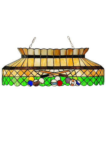 "Modern Lodge Style Ceiling Lights Meyda 28500 - 32""L Green Billiard Oblong Pendant Light"