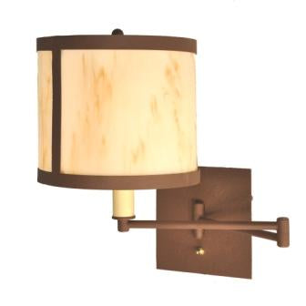 Rustic Cabin Lights - Steel Partners Lighting 2968-Sgl - Cabin Style Swing Arm Light - Single - Seattle