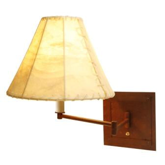 Modern Log Cabin Lights - Steel Partners Lighting 2971-Sgl - Cabin Style Swing Arm Light - Single - San Carlos