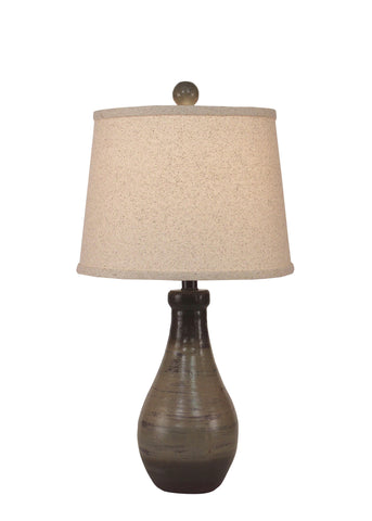 Modern Lodge Style Table Lamps - Earthstone Small Tapered Clay Pot Accent Lamp