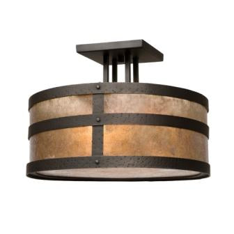 Modern Rustic Style Lighting - Steel Partners Lighting 3670 - Round Rustic Drop Ceiling Mount - Portland