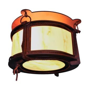 Modern Country Style Lighting - Steel Partners Lighting 3726 - Ceiling Mount - Harstene - Braided Rope