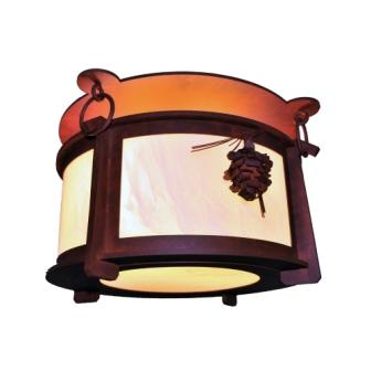 Modern Lodge Style Lighting - Steel Partners Lighting 3765 - Ceiling Mount - Harstene - Ponderosa Pine