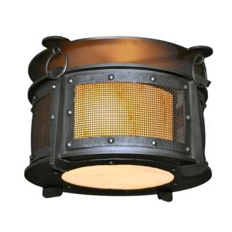 Modern Cabin Style Lighting - Steel Partners Lighting 3774-M - Ceiling Mount - Harstene - Rogue River - Mesh