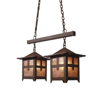 Rustic Cabin Style Lighting - Steel Partners Lighting 3808-DBL - Anacosti Lights - Hillcrest - Double